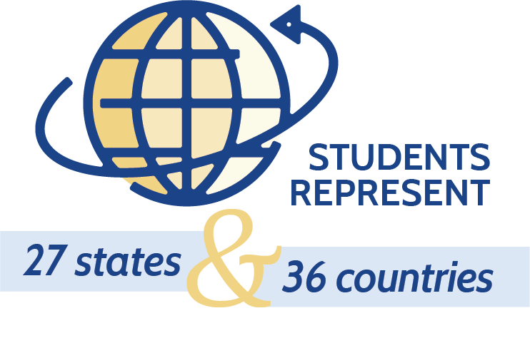 Mercersburg's students represent 27 states and 36 countries