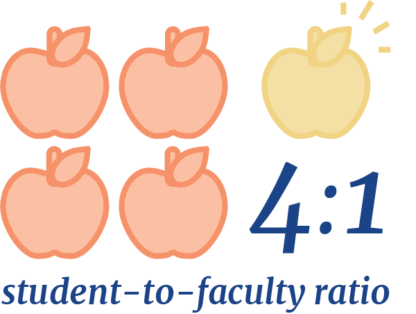 4:1 student-to-faculty ratio